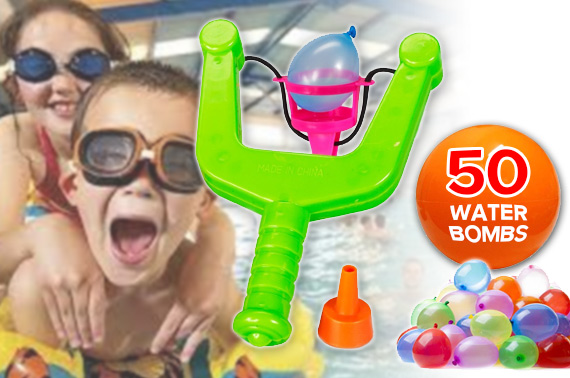 Water Bomb Slingshot Set