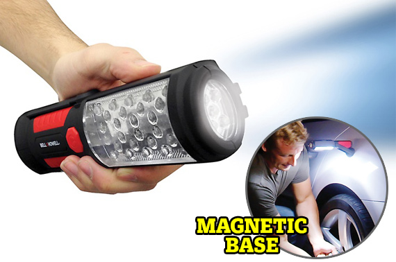 Super Bright 33 LED Torch w/ Magnetic Base