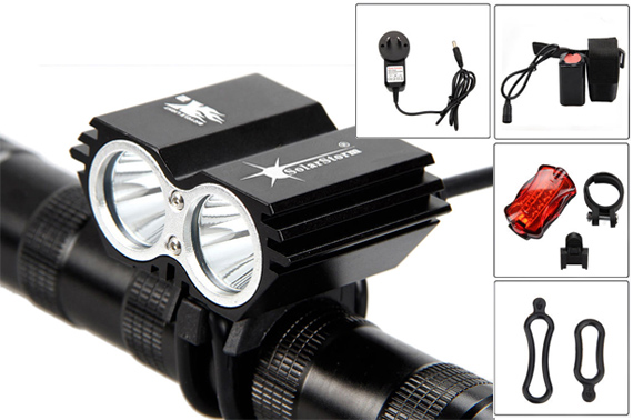 SolarStorm 6000 Lumen 2x CREE XML T6 LED Bicycle Headlamp