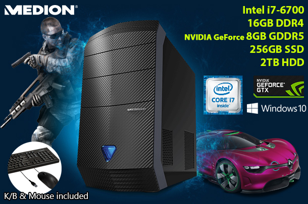 The Gamers Choice - Refurbished MEDION High Performance Gaming PC System