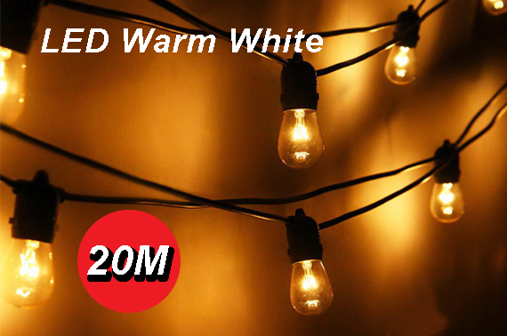 20m LED Bulb String Fairy Lights