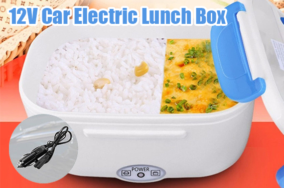 12V Car Plug Portable Electric Heated Heating Lunch Box Food Warmer