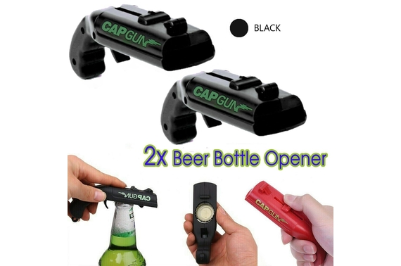 2PCS Gun Beer Bottle Opener Launcher Drinking Game Cap Shooter for Party