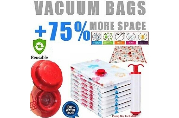 Large 60x80cm Vacuum Storage Seal Compressing Bags Saver Space Saving AU