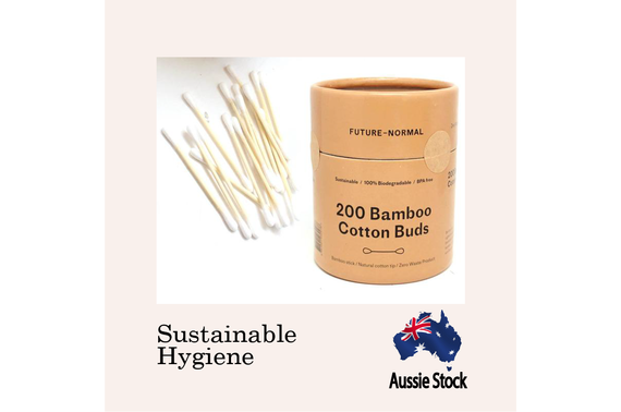 200pcs ORGANIC DISPOSABLE BAMBOO COTTON BUDS