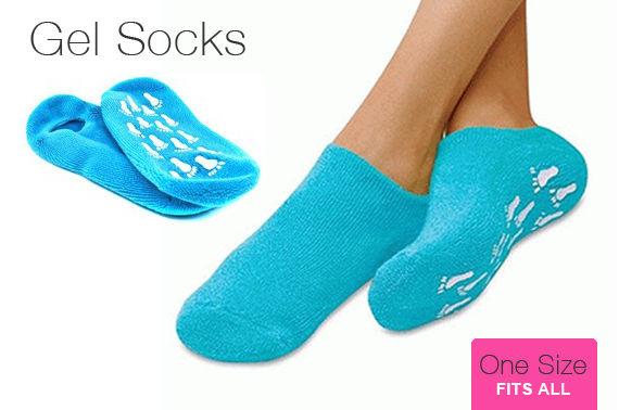 Spa Gel Socks - Blue (One Pair)