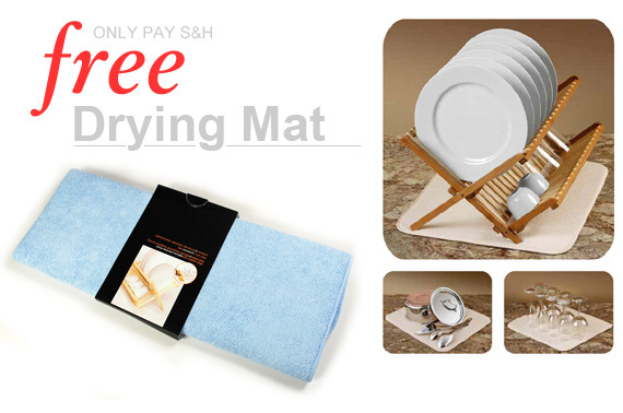 FREE Ozstock Day: Super Absorbent Dish Drying Mat