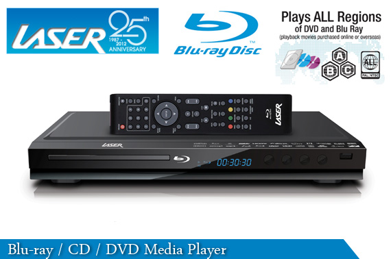 Refurbished LASER Blu-Ray DVD CD Media Player