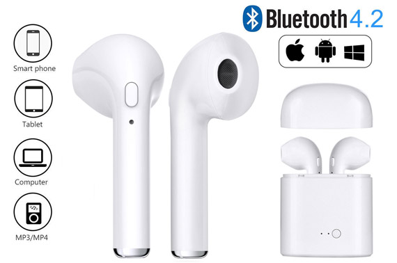 Mini Wireless Bluetooth Rechargeable Earphones