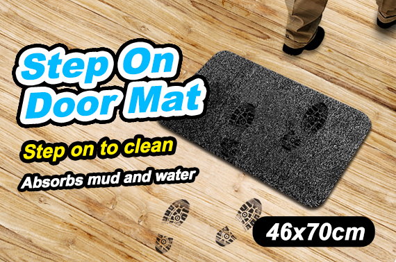 Step on Door Mat Absorbent Microfibre non- slip Absorbs Mud & Water