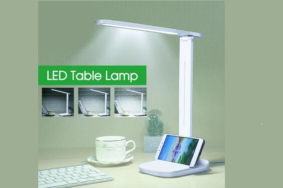 Foldable Touch Bedside Study LED Desk Lamp Reading Ctrl Table Light