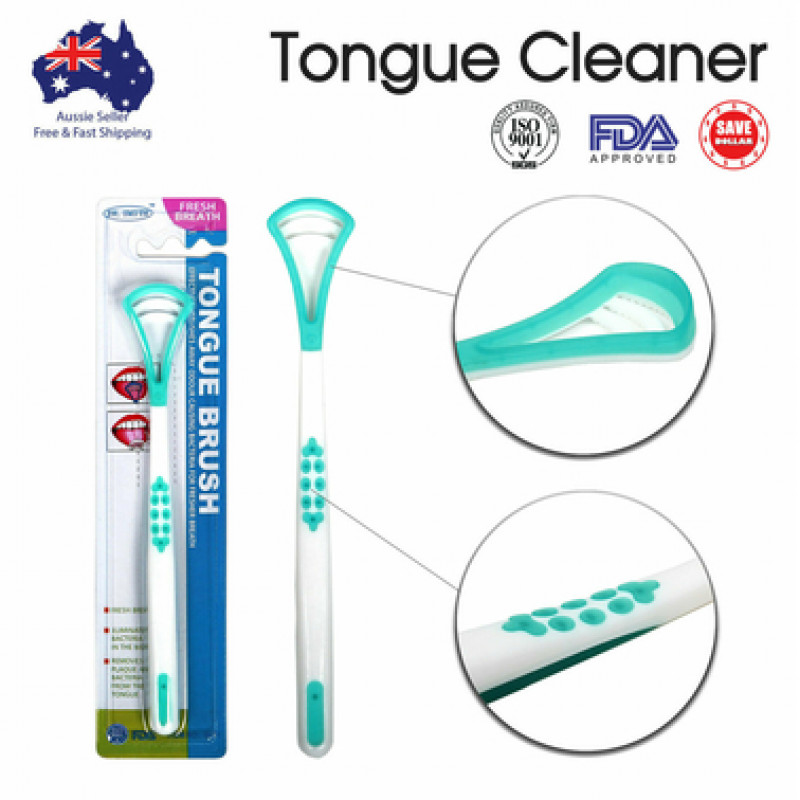 Double Head Tongue Cleaner Oral Care FDA Approved High Quality Dental Scraper