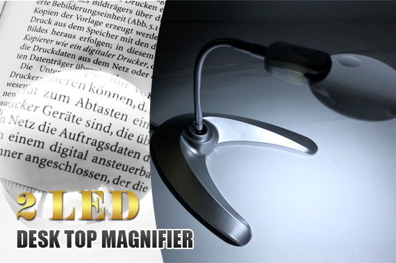 LED Illuminated Desk Top Magnifier