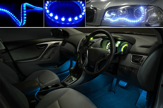 2x Flexible 12V LED Strip Light for Cars