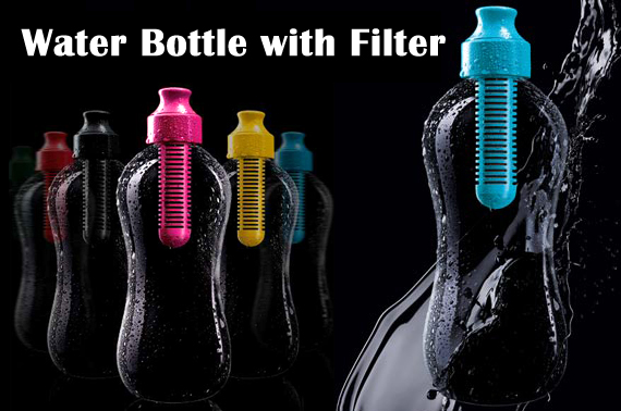 533ml Water Bottle with Filter