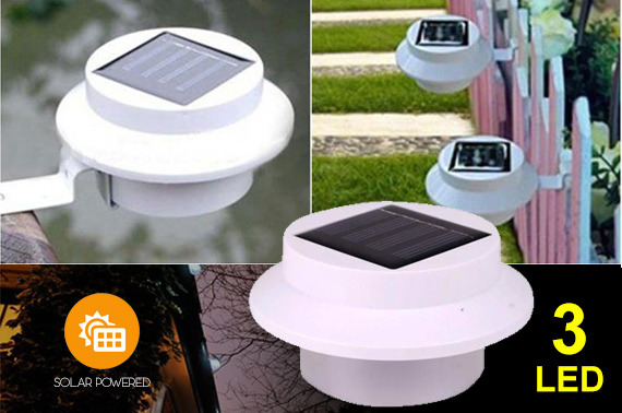 LED Solar Powered Garden Light - White