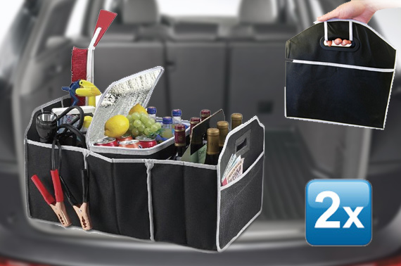 2x Collapsible Car Boot Organiser