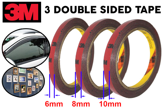 FREE Ozstock Deal: 3M Genuine Auto Double Sided Attachment 6mm+8mm+10mm Tape