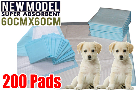 200pcs Pet Puppy Indoor Toilet Training Pads 60 x 60cm