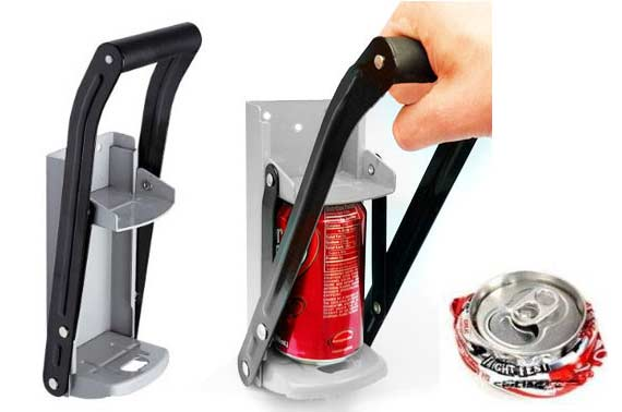 2in1 Heavy Duty Can Crusher / Bottle Opener