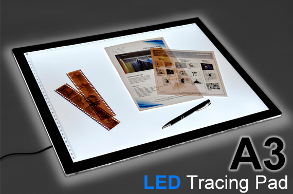 A3 Ultra Thin LED Light Stencil Drawing Tracing Board