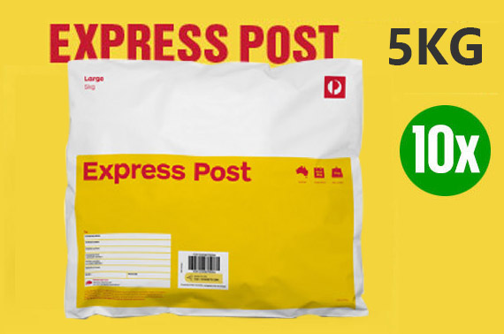 10x Australia Post 5kg Express Post Satchels with Next Day Delivery