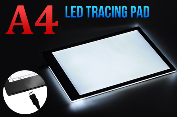 A4 Ultra Thin LED Light Stencil Drawing Tracing Board