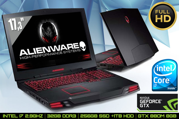 Ex-leased Alienware M17X 17.3