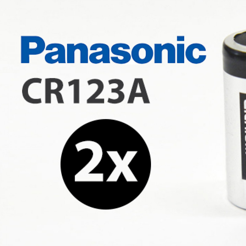 2X Panasonic 3V CR123A Lithium Battery