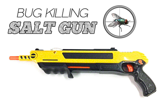 Salt Gun for flies bees stink bugs Insect mosquito Bug