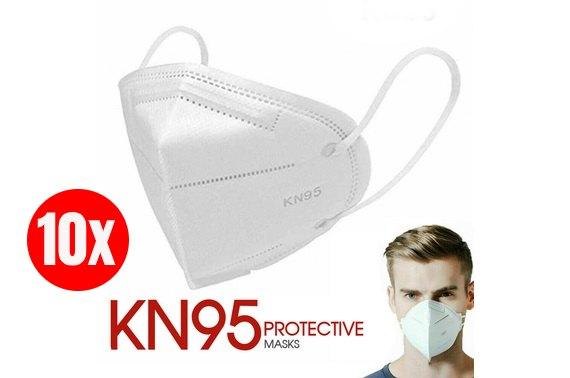 10x Reusable Kn95 Face Mask Protection N95 Mouth Filter Respirator