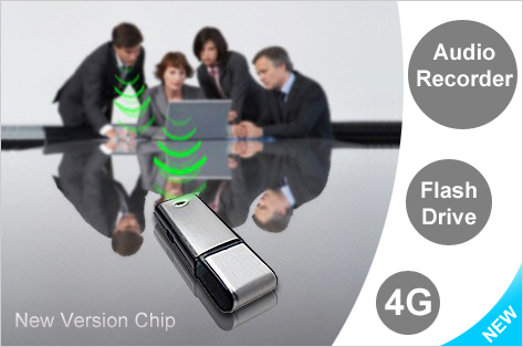 4GB USB Flash Drive with Audio Recorder - New Chipset