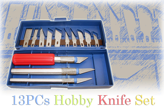 FREE Ozstock Day: 13 Piece Hobby Knife Set