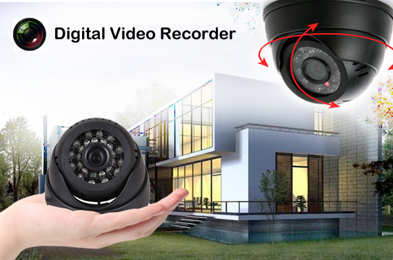 Security Camera with Night Vision and Recording