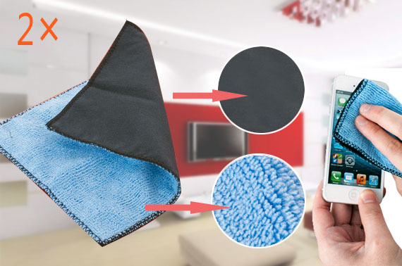 2x Microfibre Screen Cleaner