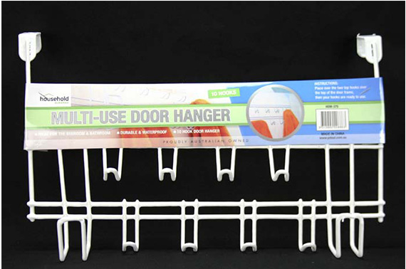 1pce MultiUse Door Hanger-10 Hooks