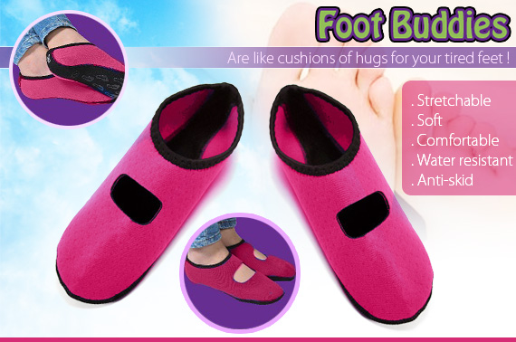 Foot Buddies Pink - Medium