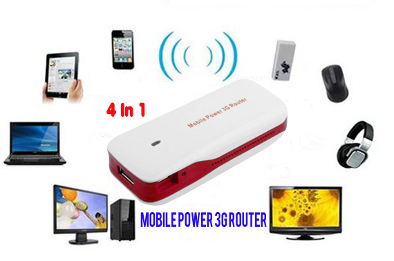 150Mbps WIFI Wireless Router with 4000mAh Power Bank