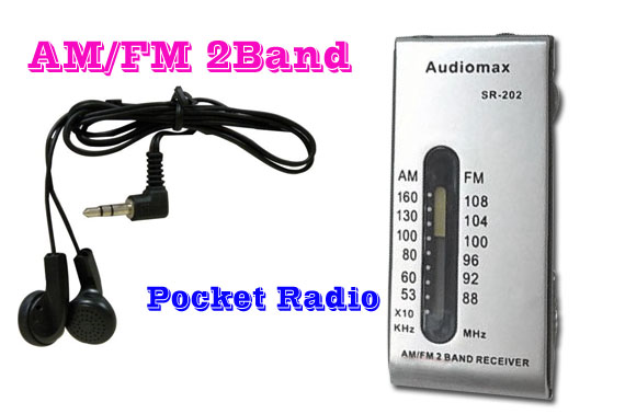 AM/FM 2-Band Portable Pocket Radio