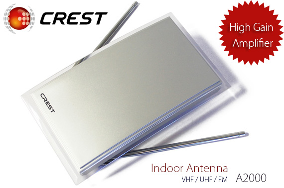 CREST Platinum Indoor Antenna with High Gain Amplifier