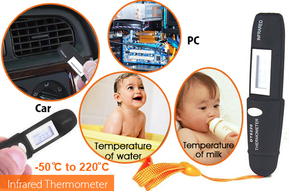 Mini Pen Type Non-Contact Infrared IR Digital LCD Thermometer