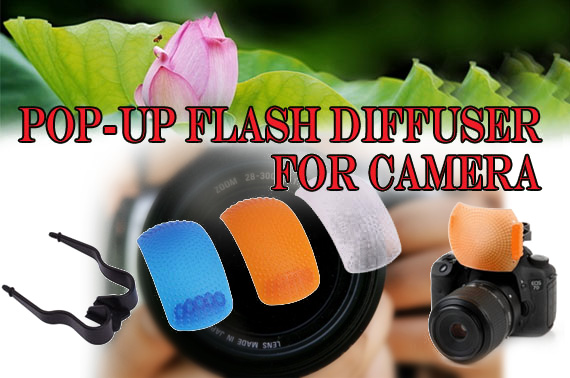 3 Colour Pop-Up Flash Diffuser Covers for Canon Nikon Sony DSLR Camera