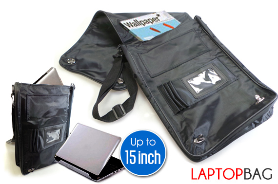 Slim Laptop Shoulder Bag for iPad/Tablet/Notebook