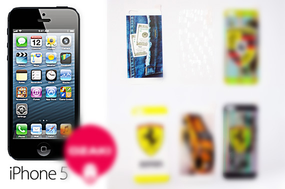 2x Set of iPhone 5/5S Screen Protectors with Design Pattern (For Him)
