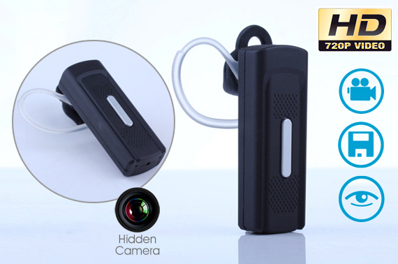HD 720P Bluetooth Headset Shaped Hidden Camera
