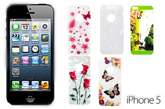 2x Set of iPhone 5/5S Screen Protectors with Design Pattern (For Her)