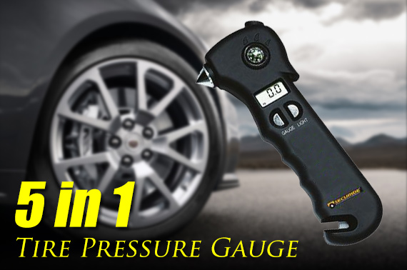 5-in-1 Multifunction Digital Tyre Pressure Gauge