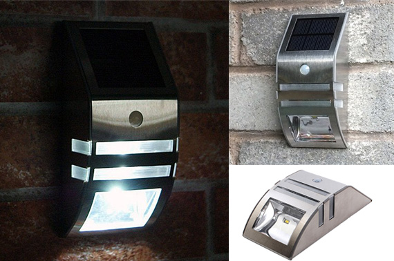 Stainless Steel LED Solar Light with Motion Sensor