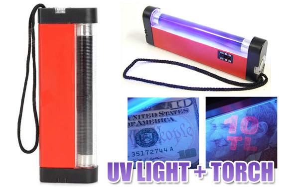 2 in 1 Handheld UV Light with Torch