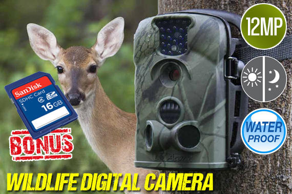 12 Mega-Pixel IR Sensor Digital Wildlife Camera with Free sandisk 16GB memory card !